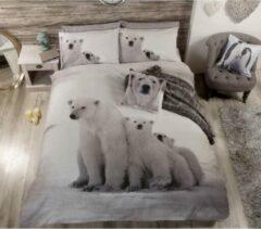 Grijze Urban Unique IJsberen 2 persoons dekbedovertrek - Polar Bear dekbed 200 x 200 cm met 2 kussenslopen