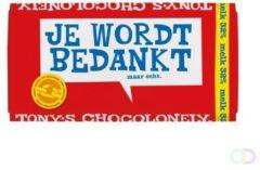 """PTMD Tony's Chocolonely Melk - Zeg 't met een reep """"Bedankt""""- Chocoladereep - 180 gram"""