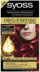Rode Syoss Oleo Intense 5-92 Stralend Rood Permanente Haarverf (173g)