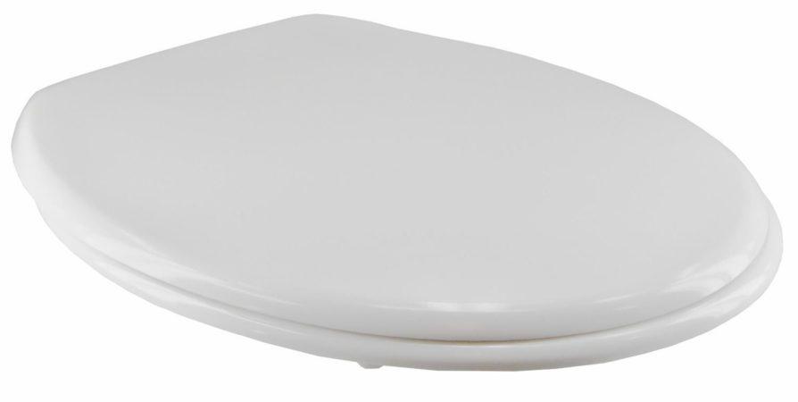 Afbeelding van Witte EISL WC-Bril ED69310 - Thermoplastiek - Soft Close - Afklikbaar - RVS-Scharnieren - Gelakt - Wit