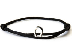 Caviar Collection Armband / Enkelbandje Neon Black X Horseshoe Silver
