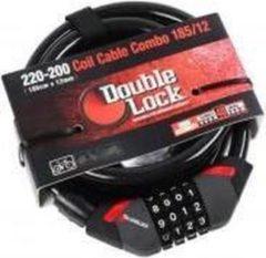 Zwarte DoubleLock Coil Cable Combo 185/12 240 centimeter