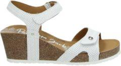 Panama Jack Julia Menorca B5 sandalen met sleehak wit - Maat 37
