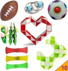 Hobbypainting.nl Pop It Fidget Toys 10 Pakket PopIt Mesh Marble TikTok Speelgoed - Pakket Fidget Toys Kinderen - Kids Fidget Toy - HP.nl®