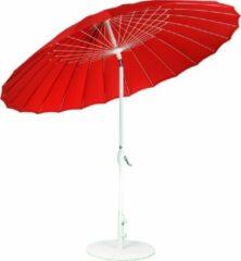 SORARA Outdoor Living SORARA Shanghai Parasol - Rood - Ø 260 cm - Kantelbaar