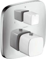 Hansgrohe PuraVida afbouwdeel voor inbouw thermostaat met stopkraan en omstel wit/chroom 15771400