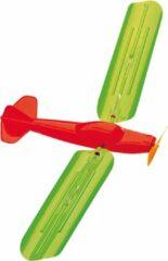 Günther vlieger vliegtuig junior 48 x 21 cm groen/oranje
