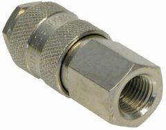 Zilveren Carpoint Snelkoppeling 1/4inch vrouwelijk binnendraad 1/4inch type Orion