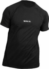 Bodybuilding t shirt mannen zwart time will tell pursue fitness