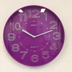 Paarse Hoffland Wandklok Lumina Violet Modern Design