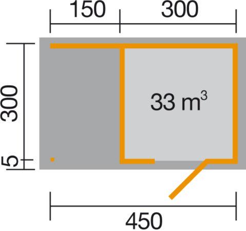 Afbeelding van WEKA | Designhuis 'wekaLine' 413A Gr.2 | 450x300 cm