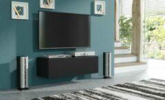 Pro-meubels - Hangend Tv meubel - Tv kast - Tunis - Mat zwart - 100cm