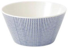 Witte Royal Doulton Pacific Dots Schaaltje 15 cm - porselein/blauw