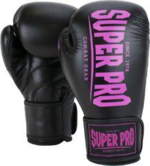 Super Pro Combat Gear Champ - Vechtsporthandschoenen - Vrouwen - Zwart/Roze - 10oz