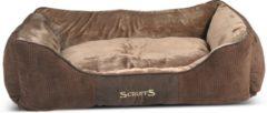 Bruine Scruffs & Tramps Huisdierenbed Chester bruin 90x70 cm maat XL 1169