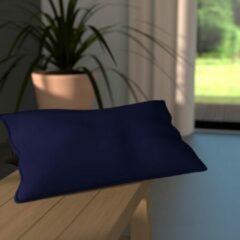 Merkloos / Sans marque Kussen – Uitstekende kwaliteit – Mooie kleuren – Wasbaar – Kleurrecht – Dikke vulling- 100% katoen - Set van twee - 30cmx60cm – Rechthoek – Blauw - Donkerblauw