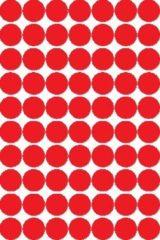Rode Apli ronde etiketten in etui diameter 19 mm, rood, 560 stuks, 70 per blad