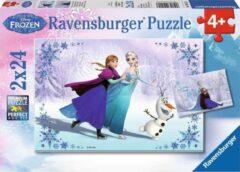 Ravensburger Disney Frozen. Zussen voor altijd- Twee puzzels van 24 stukjes - kinderpuzzel