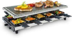 Grijze Fritel Steengrill met 10 raclette pannetjes - SG4195