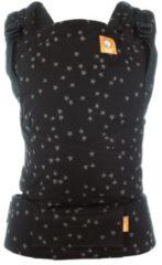 Zwarte Tula Half Buckle - Discover - ergonomische draagzak met riemen om te knopen