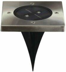 Ranex LED Solar Grondspot Tuinverlichting, Schemersensor, Waterdicht IP44, Warm Wit