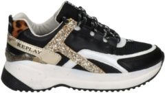 REPLAY Comet JR sneakers zwart/goud/panterprint
