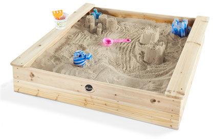 Afbeelding van Plum houten vierkante zandbak