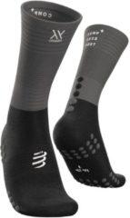 Compressport Mid Compression Socks - Zwart / Grijs - maat 35-38