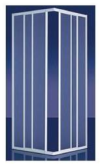 Plieger Economy douchecabine hoekinstap 2.2 mm acryl 80/90x185 cm, wit