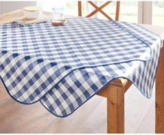 Tischwäsche 'Karo' Peyer-Syntex blau