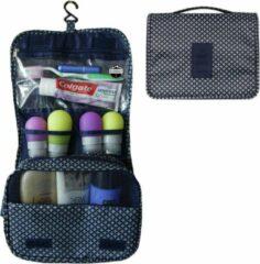 Reismonkey Ophangbare Toilettas met Haak – Donkerblauw met Sterren – Travel Bag Organizer voor Dames/Meisje – Hangende Make-up Tas/Cosmetic Bag – Reizen - Cadeau voor Dames/Vrouwen
