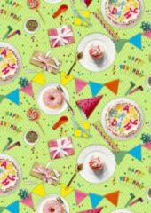 Rode MTis Cadeaupapier It's a Birthday Party- Breedte 70 cm - 200m lang - K601886/1-70cm-200mtr
