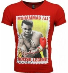 Rode T-shirt Korte Mouw Local Fanatic - Masch. T-shirt - Muhammad Ali Zegel Print