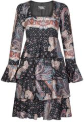 Bezauberndes Kleid HELENA mit eleganten Volants Nicowa BLACK PAISLEY