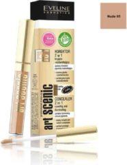 Huidskleurige Eveline Cosmetics Art Scenic Concealer 2in1 Nude