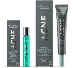 MÁDARA Cosmetics MÁDARA | ACNE SET | ACNE Intense Blemish & Pore Treatment, 20ml & ACNE Acute Spot Roll-On, 8ml - Salicylzuur | COSMOS ORGANIC gecertificeerd, Notenvrij, Dierproefvrij, Glutenvrij, Veganistisch