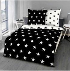 Biber Bettwäsche Stars schwarz Bettwaren-Shop schwarz