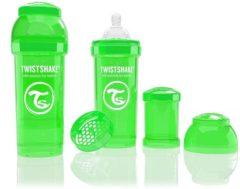 Groene Twistshake Anti-colic babyfles - groen 260ml