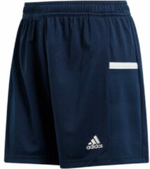 Marineblauwe Adidas T19 Knitted Short Dames - Navy - maat XS