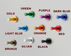 Wood, Tools & Deco Set van 10 metalen kledinghaken, kapstok, donkerblauw