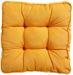 Goudkleurige Madison Florance kussen 47X47 Panama golden glow