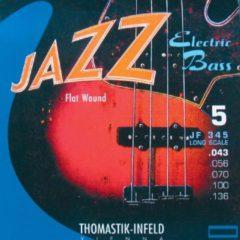 Thomastik-Infeld JF345 Jazz Flat Wound Long Scale 5-snarig