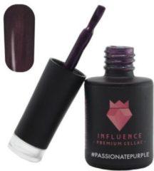 Influence - Premium Gellac Influence Gellac #PASSIONATEPURPLE - UV / LED Gellak - Gel nagellak - Gel lak - Paars / Glitter / Lila - 10 ml