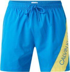 Calvin Klein Zwembroek met mesh en logoprint - Blauw/ Geel - Maat M