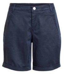 VILA Lyocellmix Chino Shorts Dames Blauw