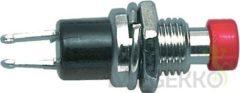 Fixapart Drukschakelaar rood voor paneeltoepassingen (druk voor contact maken)