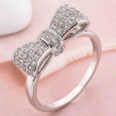 Zilveren Leukste Koop Ring met strik (17,25 mm, maat 7)