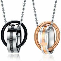 Gouden TrendFox Loyal and Steadfast Ketting Set | Kettingen | Geschenkset | Liefdes Cadeau | Relatie Cadeau | Koppels Cadeau | Koppel Set | Romantisch Cadeau