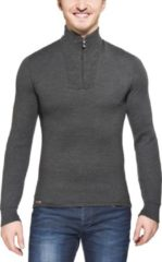 Grijze Woolpower Zip Turtleneck 200 grey - Maat XXS