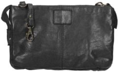 Zwarte Bear Design Cow Lavato Clutch black Damestas